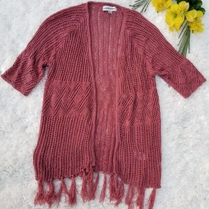 Knox Rose Knitted Tassel Cardigan